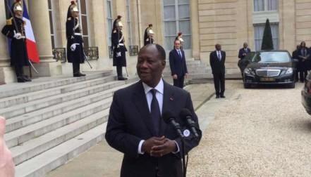 Alassane Ouattara,Emmanuël Macron,Audience,Palais de l'Elysée,Elections couplées,Municipales régionales,Côte d'Ivoire France