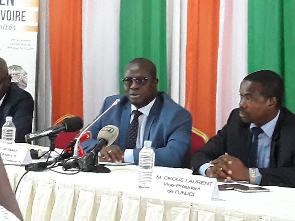 Essis Esmel Emmanuel,Cepici,Secrétaire d'Etat chargé de la promotion de l'investissement privé,press-club,unjci,novembre 2018