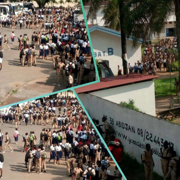 FESCI,Abidjan,Lycée classique d'Abidjan,Grève