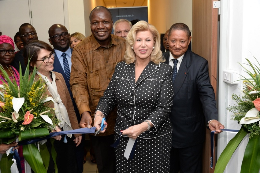 HEC,inauguration,première dame