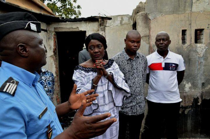 Incendie de Yopougon,Mariatou Koné,compassion du gouvernement,Solidarité