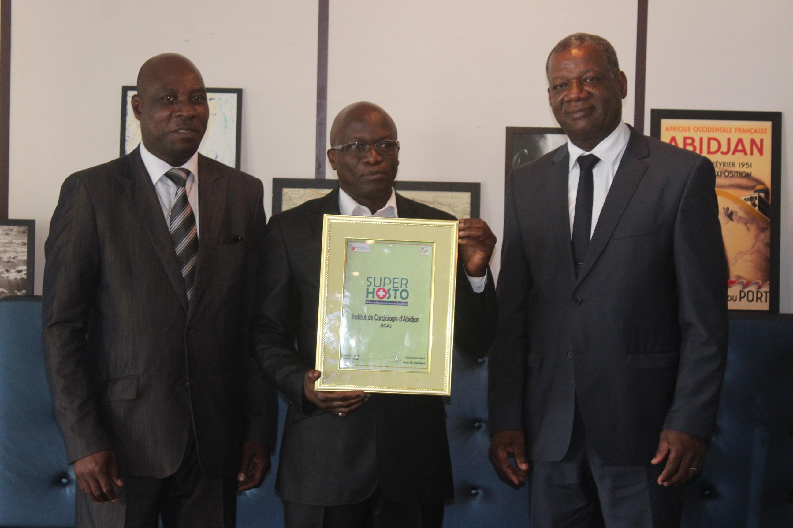Hosto Awards 2018,Sohapigroup,Aimé Alla,Dr Anygrah,Institut de Cardiologie d'Abidjan,Policlinique La Providence,Ministère de la santé