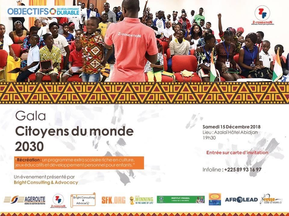 Education,le Gala des citoyens du monde 2030''