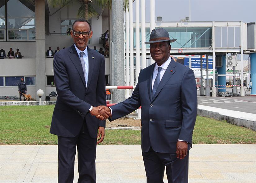 Paul Kagamé,Visite officielle à Abidjan,Alassane Ouattara,Union africaine,président du Rwanda