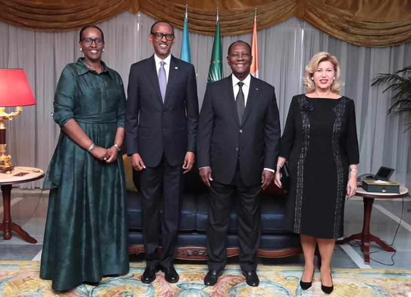 Coopération Côte d'Ivoire Rwanda,Visite de Paul Kagamé à Abidjan,Paul Kagamé,Alassane Ouattara