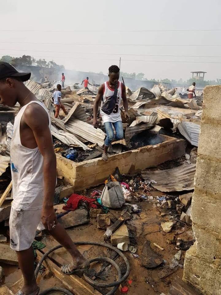 Incendie,Akouédo,habitations,maire Jean Marc Yacé