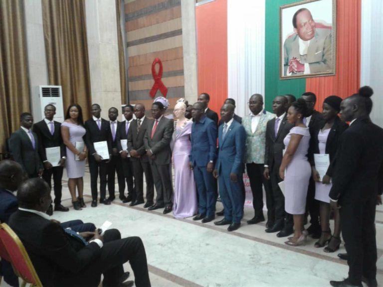 La nouvelle présidente de la Jeune chambre internationale universitaire Abidjan  investie