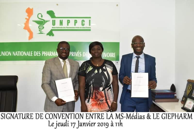 MS-MÉDIAS,convention,700 pharmacies,santé,journalistes,Côte d'Ivoire,Journalistes,MS-Medias