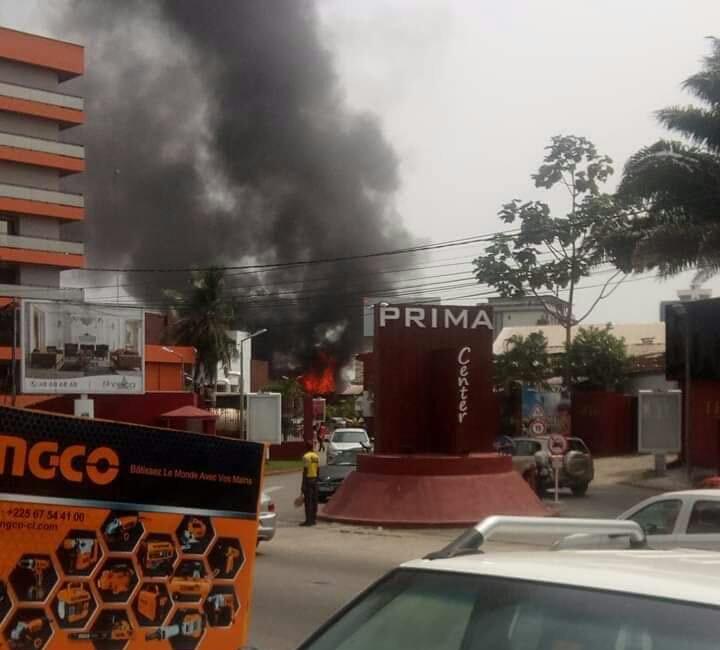 Côte d'Ivoire,Prima Center,Incendie