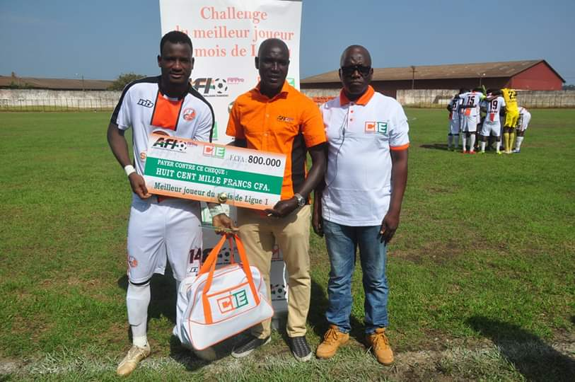 Football,Football  / Oussou Konan(Fc San Pedro )  élu meilleur joueur du mois de Novembre