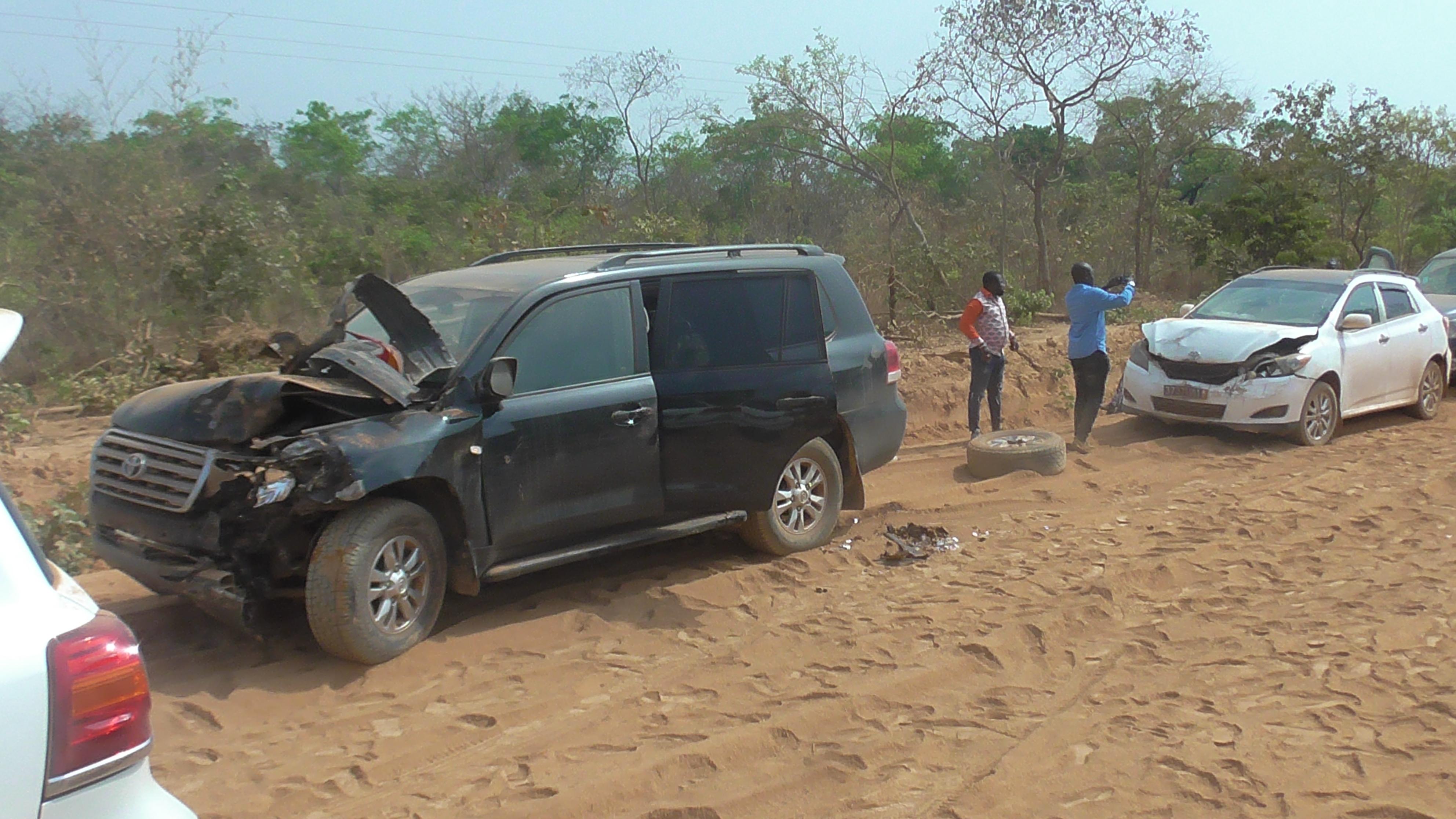 accident,cortège épouse du Premier ministre,quatre blessés