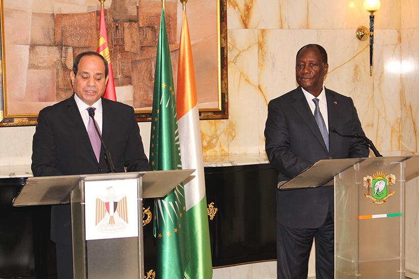 Al Sisi,Côte d'Ivoire,Egypte