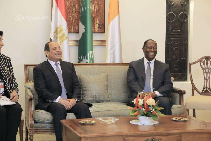 Oôte d'Ivoire-Egypte,Ouattara-Al-Sissi,Diner,discours