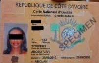 Côte d'Ivoire,Cartes nationales d'identité,Semlex,passports