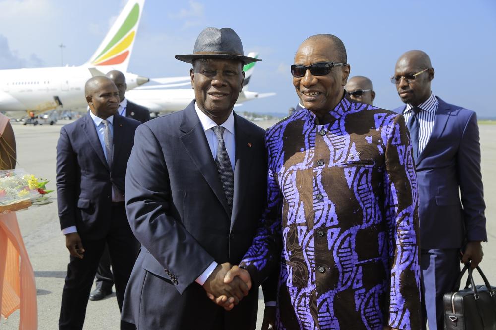 Visite,Alpha Condé en Côte d'Ivoire