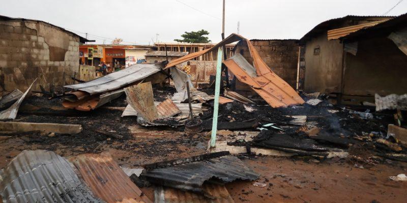 Côte d'Ivoire,Tiassalé,Incendie