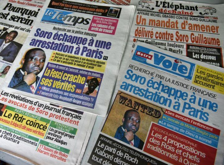 Revue de presse,  journaux ivoiriens,