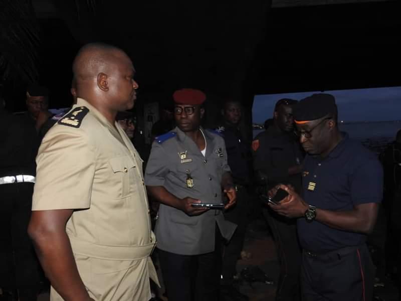 Vincent Toh Bi,préfet d'Abidjan,pompiers