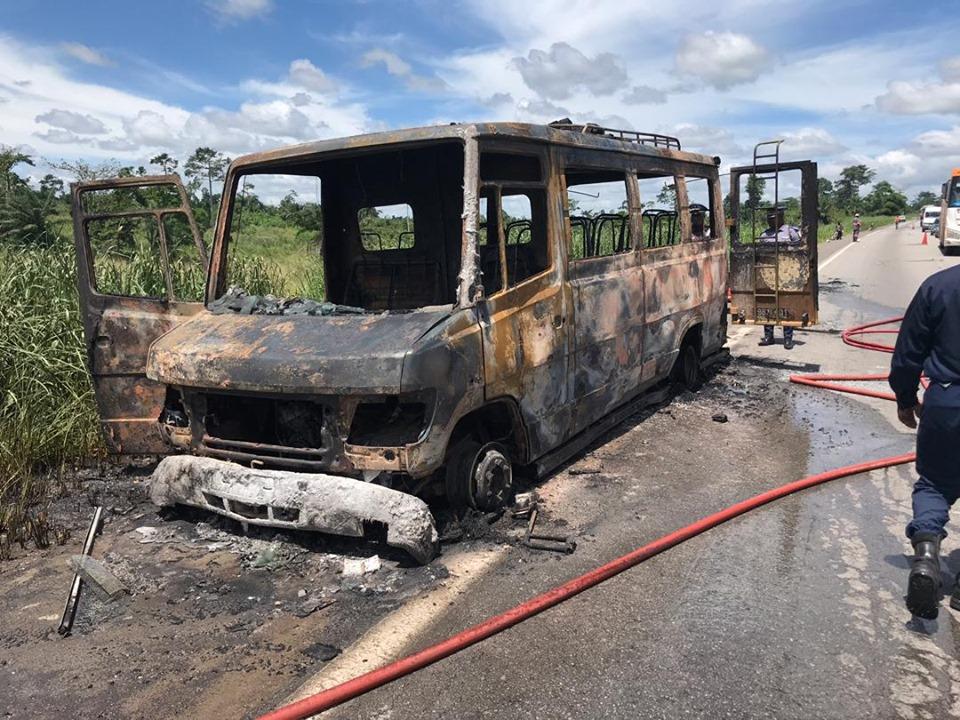 autoroute du nord,GSPM,Car en feu