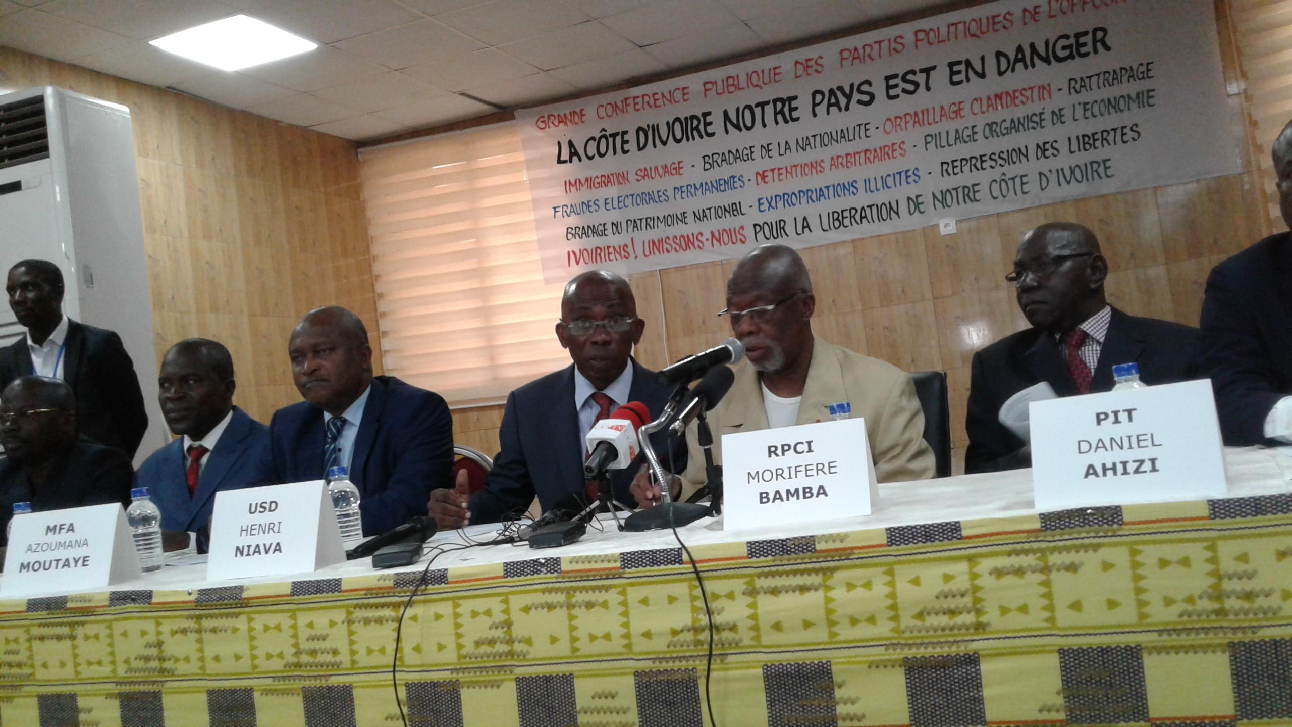 propos xénophobie de Bédié,parti politique de l'opposition,Bamba Moriféré