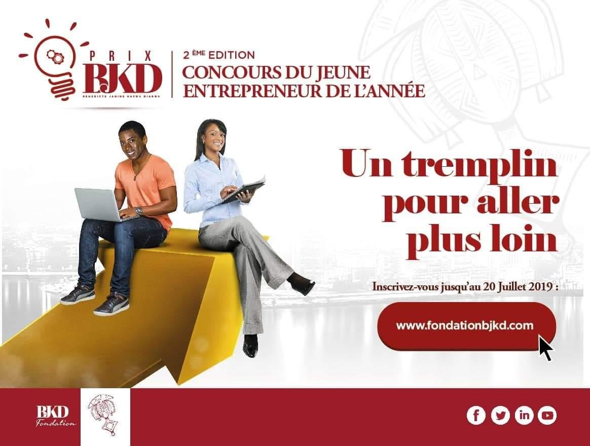 jeunes entrepreneurs ivoiriens,prix BJKD,fondation Bénédicte Janine Kacou Diagou