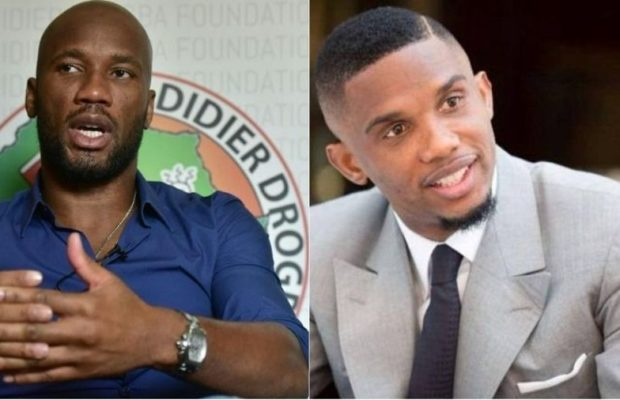 Football,Caf,Ahmad Ahmad,Didier Drogba,Samuel Eto'o