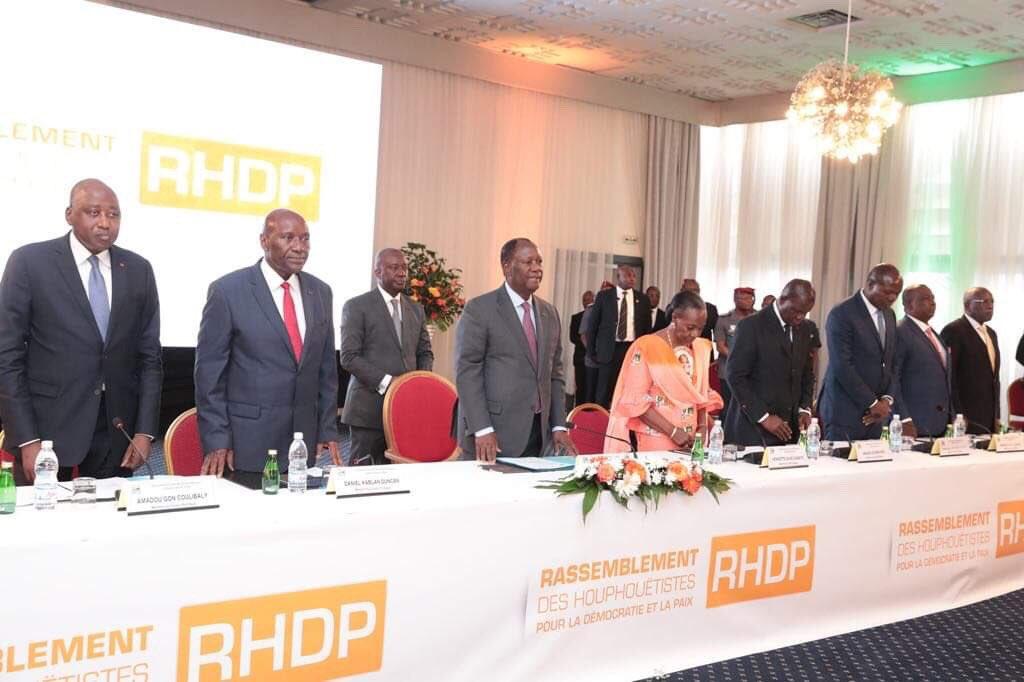 Conseil politique,Rhdp,Elections présidentielles