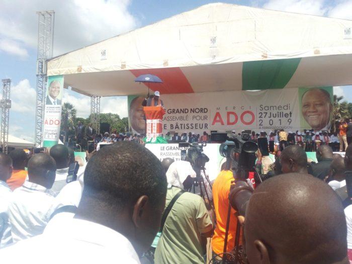 Hommage à Alassane Ouattara,Ferké,Bilan