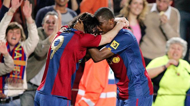 Lionel Messi,Samuel Eto'o,hommage