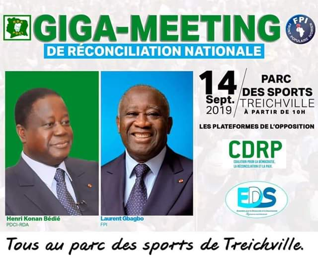 Meeting de l'opposition,Parc des sports