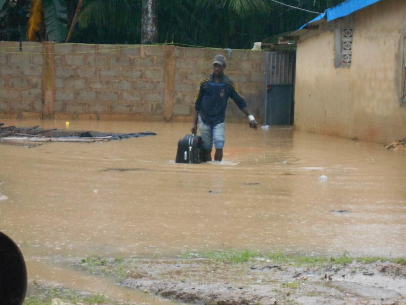 Pluies diluviennes,Aboisso,habitations inondées
