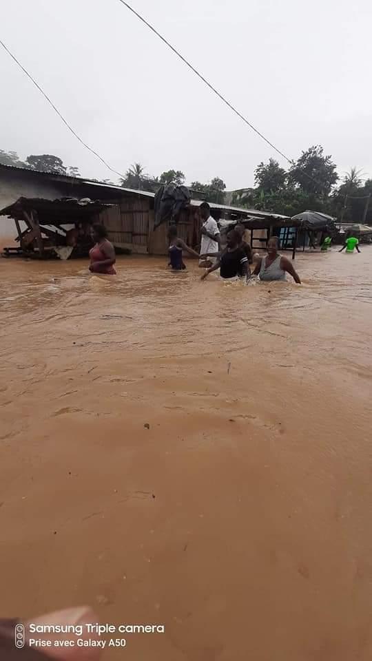 Innondations sud comoé,Anyama,Pluie diluvuenne,Saison des pluies