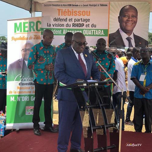Tiébissou,Hommage au Président de la République,Maire de Tiébissou