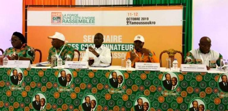 RHDP,Yamoussoukro,Séminaire,2020
