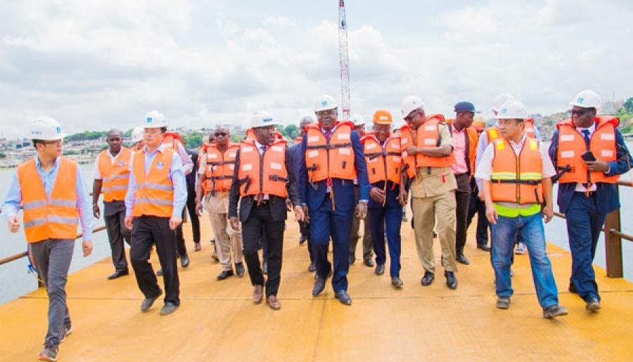 4e pont,visite du ministre Amédé Kouakou