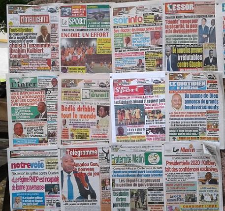 Revue de presse du lundi 18 novembre,Bureau politique du PDCI