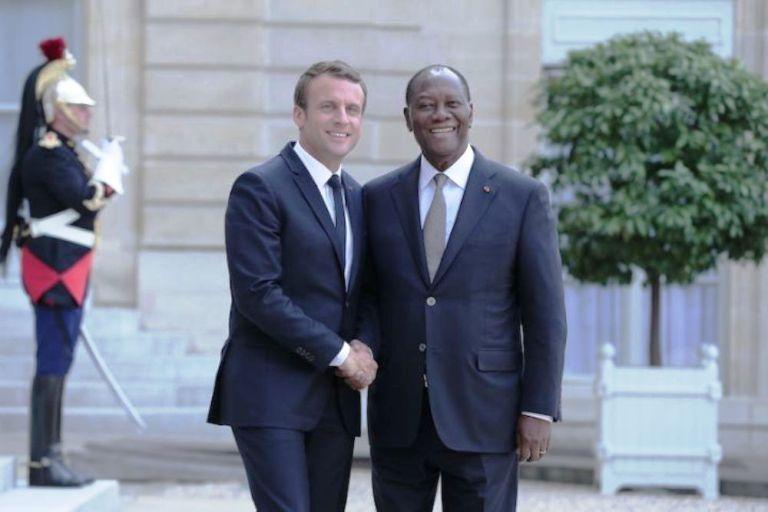 Alassane Ouattara,Emmanuel Macron,France,Cote d'Ivoire