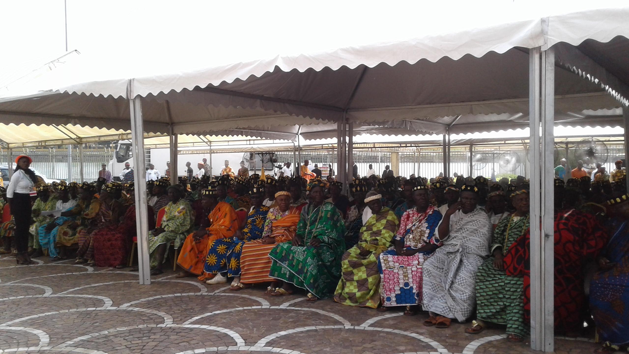 Rencontre Ouattara avec les chefs Baoulé,Yamoussoukro,Président de la République