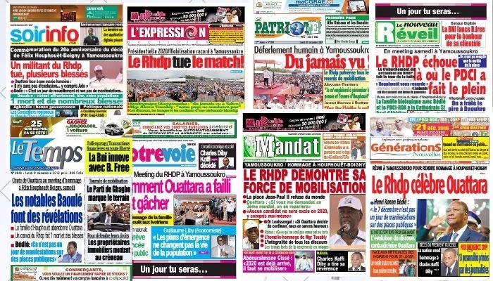 Revue de presse,Alassane Ouattara,Yamoussoukro,Rhdp