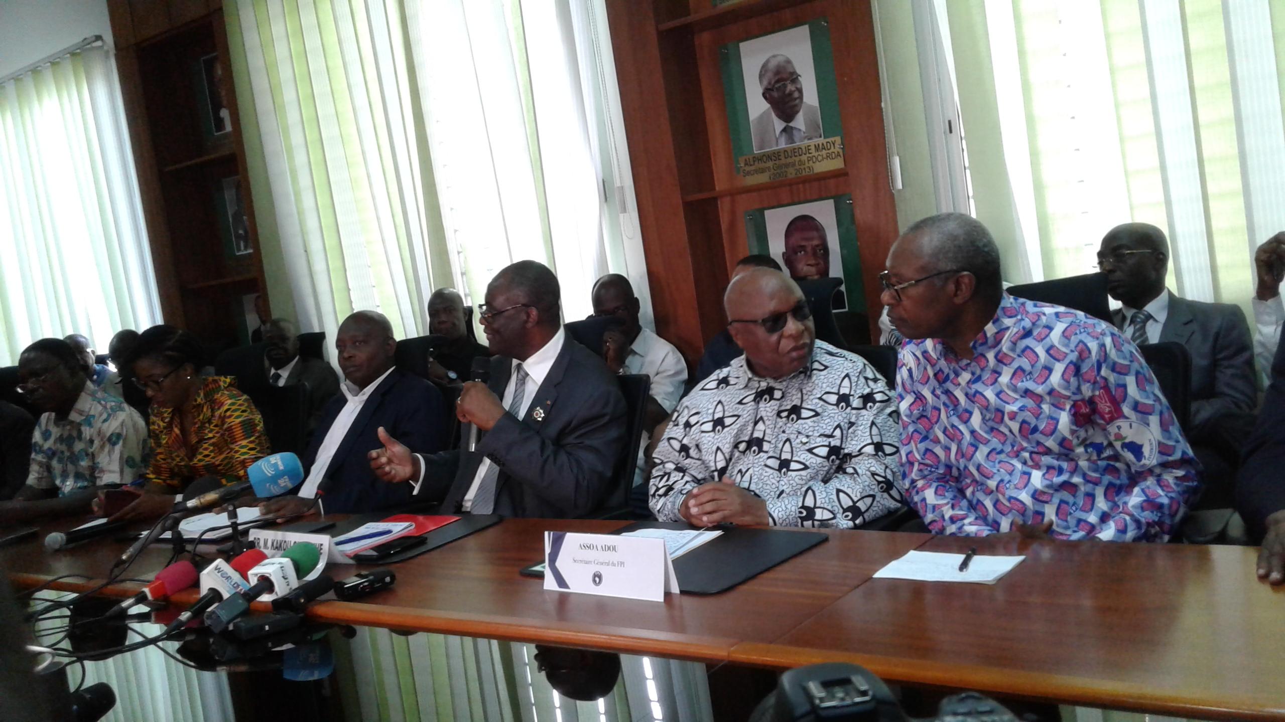 Meeting PDCI/FPI,Élections 2020,Candidat du FPI,PDCI