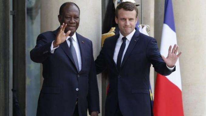 Emmanuel Macron,Alassane Ouattara