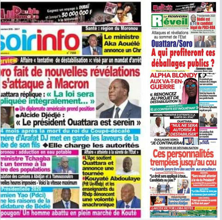 Revue de presse,Ouattara,Soro,Ouattara et Soro,bataille