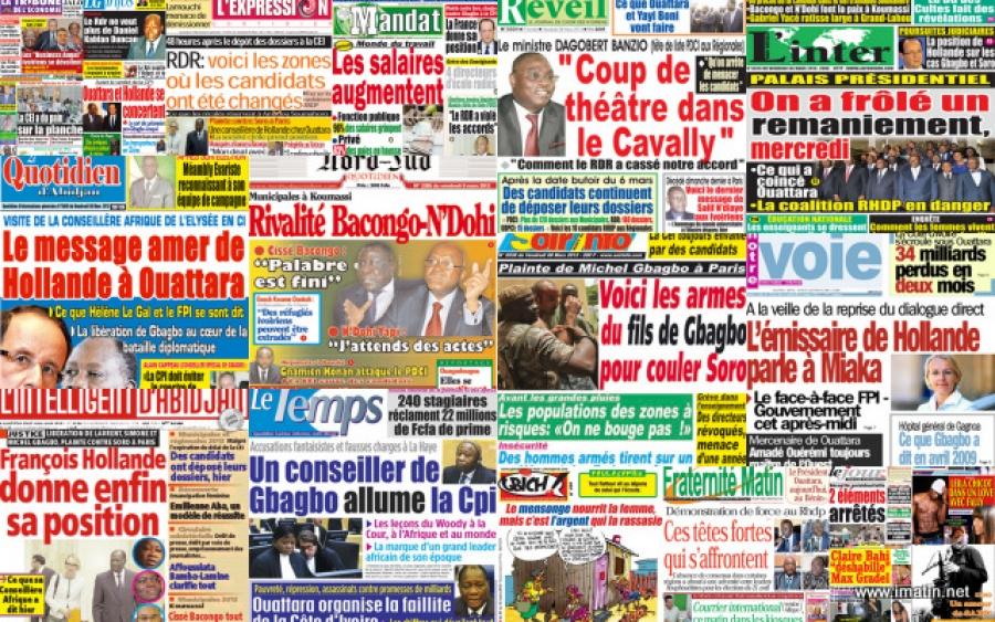 Revue de presse,Amadou Gon Coulibaly,Adama Bictogo