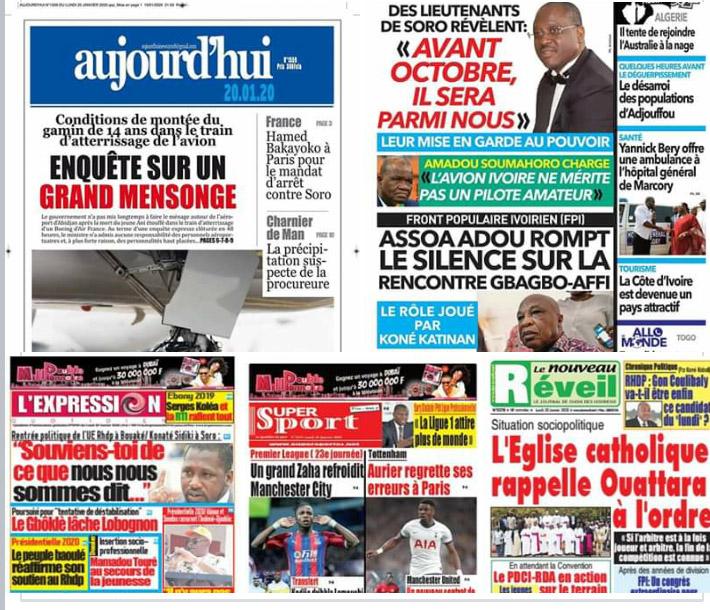 Revue de presse,message des Évêques,Gbagbo-Affi,Assoa Adou