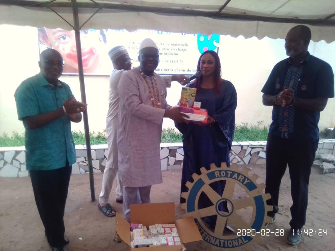 Rotary club Abidjan-Biétry,fondation Mission d'amour,Rotary international,Lagnon Fidèle Koné