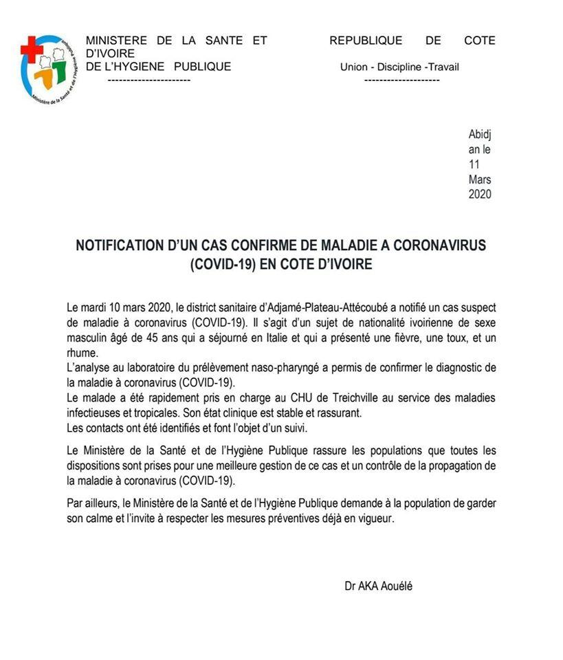 coronavirus,Côte d'Ivoire,Covid-19