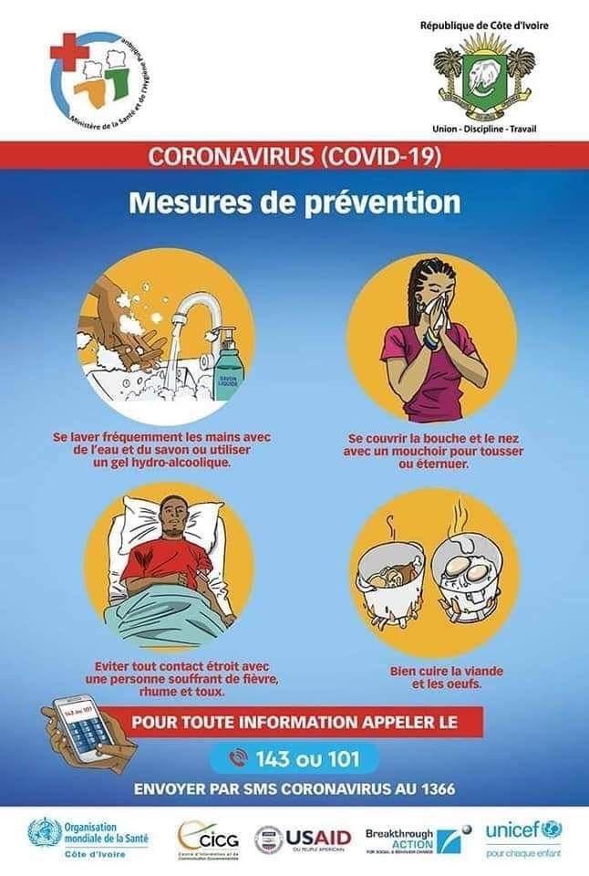 Coronavirus,mesures de prévention,Côte d'Ivoire,1er cas confirmé