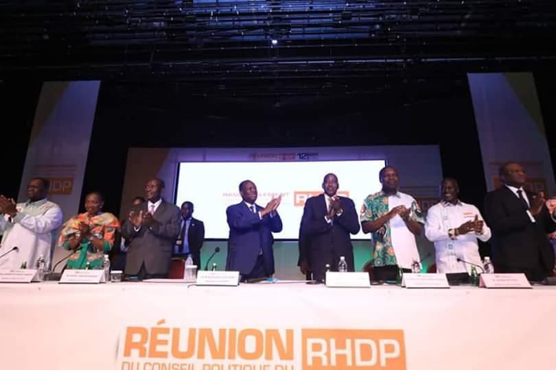 RHDP Candidat du rhdp,Présidentielle 2020,Conseil politique