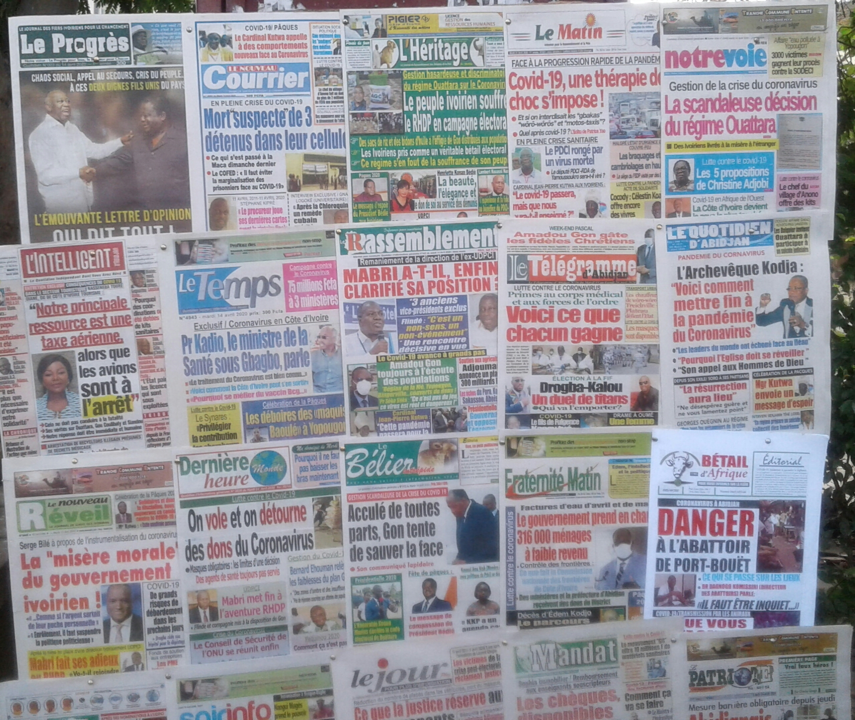Revue de presse,Coronavirus,UDPCI,RHDP
