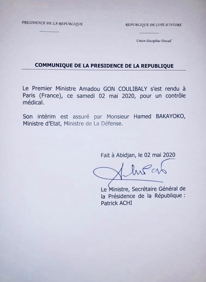 Gon en France,Contrôle médical,présidence
